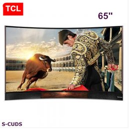 TCL 65 inches Curved surface EDITION high color gamut true 4K Ultra HD smart TV stereo base LCD TV
