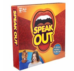 Wholesale 2016 NEW Speak Out Game KTV Party Game Cards For Party Christmas Gifts Newest Best Selling Toy With Retail Box