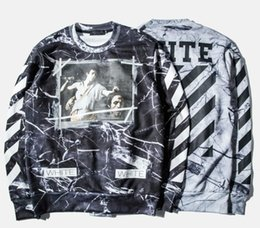 Wholesale-Top Quality 2016 Off White C O VIRGIL ABLOH men's new caravaggio Religion Painting sweatshirt pyrex vision hoodie