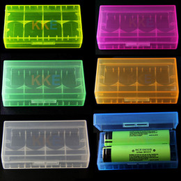 Wholesale Plastic Battery Case Cover Box Colors Holder Storage Container Battery Holder Box For MNKE Sony VTC5 VTC4 Battery