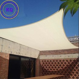 Wholesale x M Waterproof Fabric Sun Shade Sail with free ropes used for garden sun shade