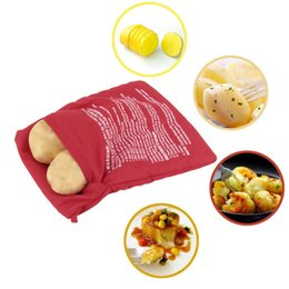 Wholesale 150pcs NEW Red Washable Cooker Bag Baked Potato Microwave Cooking Potato Quick Fast cooks potatoes at once hot selling ZA0478