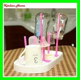 Useful Baby Feeding Bottle Dryer Rack Simple Cleaning Drying Rack Shelf Detachable Kitchen Feeding Holder Kitchen Tools