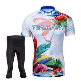 Tasdan Cycling Jerseys Sets Men's Short Sleeve Bike Bicycle Jerseys Suit Custom Cycling Jerseys & (Bib) Short Tights 3 4 Pants Sets