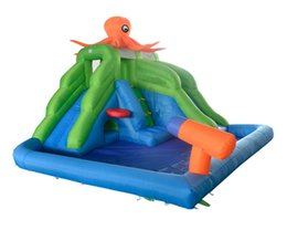 Wholesale Backyard octopus inflatable water park slide swimming pool for kids hot summer