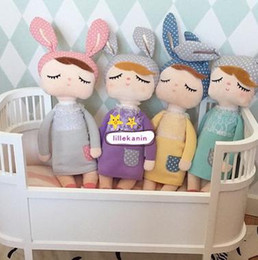 Free shipping The children's day to appease the Rabbit plush toy doll doll lace baby doll doll INS explosion models to accompany sleep