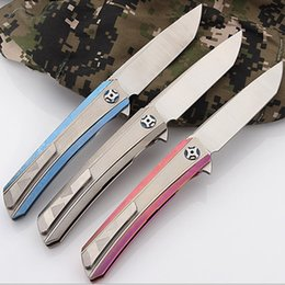CH ch3002 folding pocket knives serrated S35VN blade titanium handle knife ceramic ball bearing TC4 outdoor camping hunting edc tools