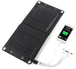 5pcs Открытый Быстро 7W Солнечное зарядное устройство пакет складная складывая панели солнечных батарей зарядное устройство сумка питания для телефона 5V цифровых устройств от Производители панель раз