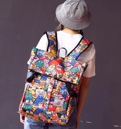 Wholesale New Kitty cat solar system Double big bag Korean Harajuku Schoolbag Canvas girl High capacity Travel Backpack