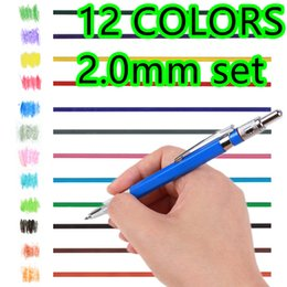 Wholesale Mechanical Pencil Colors refills coloed set mm for adult coloring book kawaii color automatic eraser cute graphite lapices