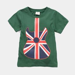 guitar children fashion t-shirts summer short sleeve boys clothes t shirt kids tee shirts jersey girls dress free shipping