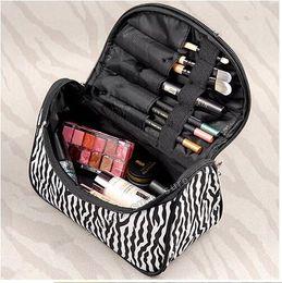 New Arrival Highlighter Makeup Bags Women Cosmetic Case Makeup Bags Toiletry Bag Zebra Travel Handbag Organizer Pouch