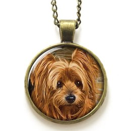 Wholesale 10pcs Yorkie necklace Yorkshire terrier Puppy Gift for Yorkie Lover necklace print photo glass dog necklace