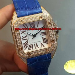 Luxurious business fashion classic precise Swiss quartz movement imported sapphire and diamond waterproof fancy Leather Ladies Watch