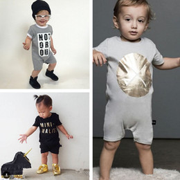2016 New INS Baby romper suit Cotton short sleeve letter Printing rompers boys girls costumes Toddlers bodysuits tights sets
