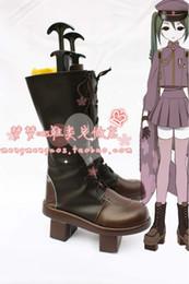 Wholesale-Anime VOCALOID Hatsune Miku Senbonzakura Boots Cosplay costume shoes Custom Made Halloween Free Shipping
