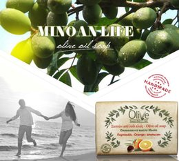 Wholesale 100g orange traditional olive oil handmade soap Natural Pure Dermatologically tested No animal ingredients Day used Sensitive skin care