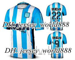 Wholesale Top Thai quality Argentina Racing Club de Avellaneda jersey Home Blue MILITO LISANDRO Racing football Shirt