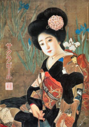 Wholesale Japanese Advertising circa Pure Hand painted Figure Art oil painting On Canvas MUSEUM QUALITY in any size customized