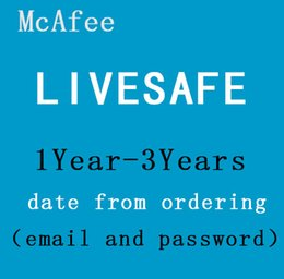 Wholesale McAfee LiveSafe Antivirus internet security PC Mac Android iOS Year Unlimited Devices