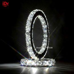 Descuento mesa moderna habitación lámparas Sala de estar contemporánea llevó Lámparas de mesa cálido dormitorio moderno cristal Luz de mesa de lujo de atmósfera D220xH240mm Crystal Light