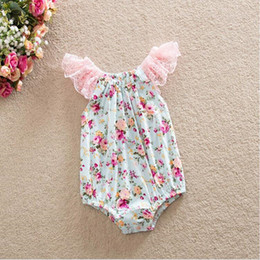 Baby girl ruffle sleeve romper sunsuit ,Floral bubble romper Pattern ,Lace Flutter Sleeve Baby Romper ,Floral Toddler Romper