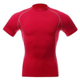 Al por mayor-Hombres de compresión usar debajo de la Capa Base Tops apretada de la manga corta Deportes camisetas base layers on sale desde capas base proveedores
