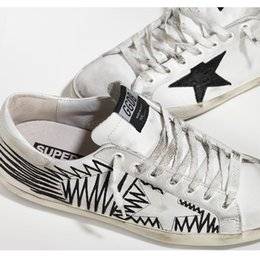 Wholesale Italy Luxury Brand Golden Goose Men Women Superstar Casual Shoes Genuine Leather White GGDB Sneakers Man Women Shoes