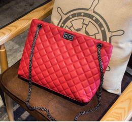 Handbags autumn and winter new simple Korean version of Lingge diagonal chain bag shoulder bag portable