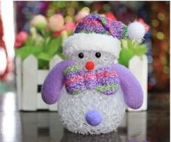 Wholesale Christmas decorations LED light with light night light Snowman Snowman Christmas tree ornaments rice Crystal Pendant can be used everywhere