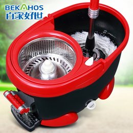 Wholesale Four drive rotary mop bucket mop hand pressure mop magic foot pedal drying mop head