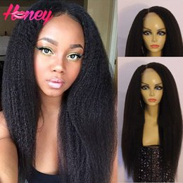 Kinky Straight Full Lace Wig with baby hair 130 denisty Human Hair Lace Front Kinky Straight Wig Coarse Yaki lace Wigs
