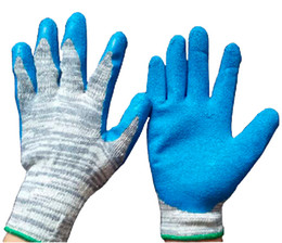 Anti-slip Latex Wrinkle Glove Labor Protection Safety Glove Acid And Alkali Resistance Glove Protective Daily Working Latex Glove