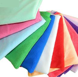 Colorful 30*30cm car wash towels microfiber towel superfine fiber towel multifunctional kitchen cleaning water absorbent towel
