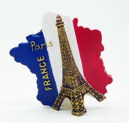 France Eiffel Tower 3D Realistic Resin Stereo Fridges Magnets Cute Flexible Fridge Magnets Gift Toys New Designed