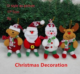 Wholesale new arrivals Christmas Santa snowman deer bear Christmas tree decoration boot glove post mailer little angle ornaments decoration hanger Fre