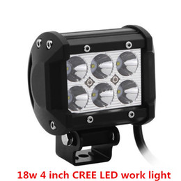 """4"""" inch 18W Cree LED Work Light Bar For Jeep Offroad Car With Wiring Harness Kit"""