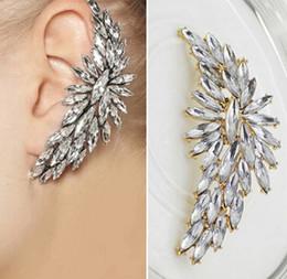 Wholesale harming Boho Crystal Drill Ear Cuff Clip On Earrings For Women Fashion Girls Ear Gift Piercing Jewelry