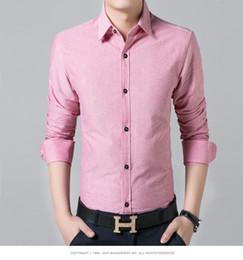New authentic men's shirts metal buckle pure color men's shirts men long sleeve shirt business casual fashion shirt