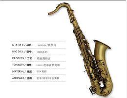 Wholesale DHL Selmer B flat tenor saxophone tube matte matte antique instruments