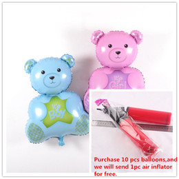 Wholesale Foil Balloons Party Decoration Inch Bear Balloons Baby Showers Kids Birthday Wedding Party Supplies Balloon Bear Aluminum Film Balloons