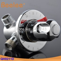 Wholesale quot Brass Thermostatic Shower Mixer Valve Automatic Thermostatic Valve For Solar Electrical Water Heaters