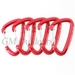 Wholesale 5pcs KN Wire Straight Gate Aluminum Carabiner Hook Outdoor Camp Climbing Carabiner Safety Buckle gate manufacturers