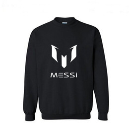Wholesale Free shippin Autumn European Style fashion casual Barcelona MESSI Soccer streetwear Football O Neck fleece hoodies sweatshirt