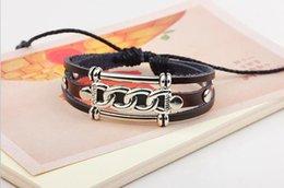 Wholesale Hot Girls Jewelry Leather Bracelet Antique Vintage Dogan Weaving Bracelet Women Accessories Fashion Bracelet Coffe Color