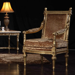 French classic furniture manufacturer living room classic armchair-classic wood furniture-royal furniture - home furniture Free shipping