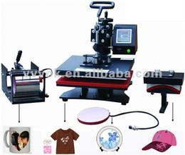 Livraison gratuite Digital 4 en 1 machine à pression polyvalente machine4 en 1 Tshirt / Mug / Cap / Plate Combo, presse de chaleur, Machine de transfert de chaleur de sublimation à partir de transferts tshirt fabricateur