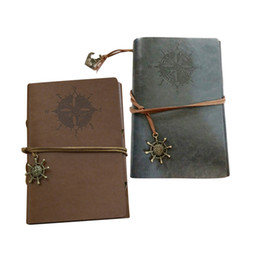 Wholesale-Nautical Retro Personality Notebooks Journal Notepads Spiral Ring Binder Leather Cover Diary Notebook