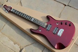 Free shipping brand new 24 fret Mahogany body Iniriative Adapterization electric guitar in red color