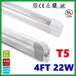 Compra Online Cree llevó la garantía-T5 22W 1200mm 4FT llevó los tubos de 1,2 m Integrado Tubo fluorescente LED Lámpara 96LEDs SMD2835 CRI85 CA 85-265V CE ROHS UL + Garantía 3 años